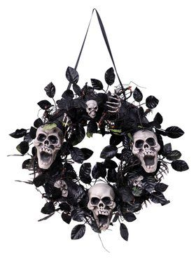 Day of The Dead Skull Wreath