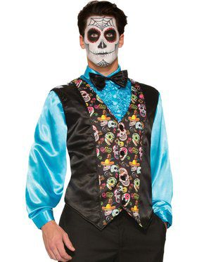 Day of the Dead Vest Men's Costume