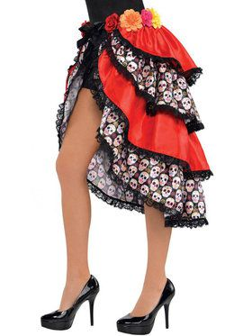 Day of the Dead Women's Skirt Bustle