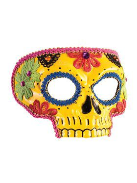 Day Of The Dead Mask (Yellow)