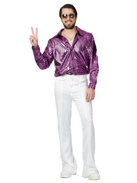 Adult's Psychedelic Purple Disco Shirt