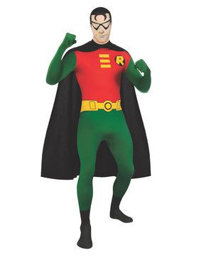 DC Comics - 2nd Skin Robin Adult Costume