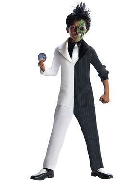DC Comics BatMens Super Villain Two-Face Boys Costume