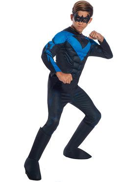 DC Comics Deluxe Nightwing Costume for Boys