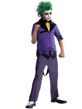 DC Comics Gotham Super Villains Joker Boys Costume