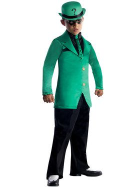 DC Comics Gotham Super Villains Riddler Boys Costume