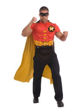 DC Comics Adult Robin Muscle Chest Costume