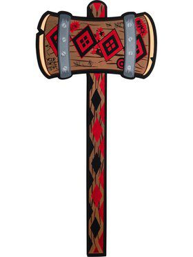DC Comics Super Villains Harley Quinn Mallet Accessory