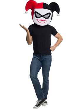 DC Comics Super Villains Harley Quinn Moveable Jaw Mask
