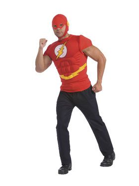 DC Comics The Flash Muscle Chest Top Adult Costume