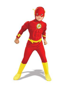DC Comics The Flash Muscle Chest Deluxe Costume For Toddlers