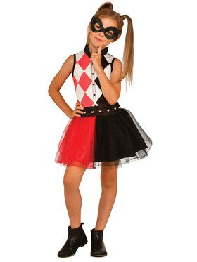 DC Super Hero Harley Quinn Tank Dress For Children