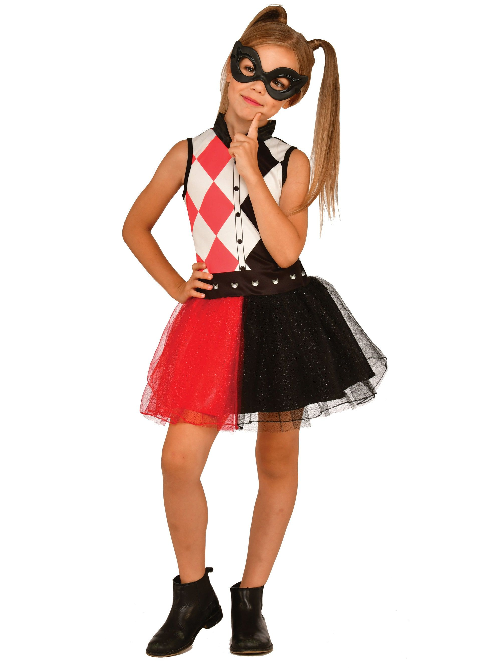 Dc Super Hero Harley Quinn Tank Dress For Children Girls Costumes