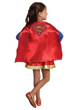 DC Super Hero Supergirl Cape and Skirt Set For Children