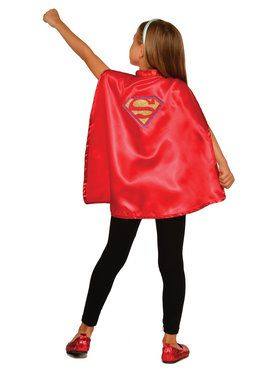 DC Super Hero Supergirl Cape Set For Children