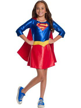 DC Superheroes Deluxe Supergirl Costume for Girls