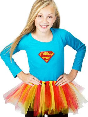 DC Super Hero Girl's Supergirl Girl's Tutu Kit