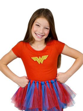 DC Super Hero Girl's Wonder Woman Girl's Tutu Kit