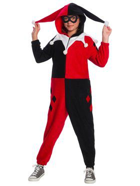 DC superheroes Harley Quinn Jumpsuit Costume for Kids