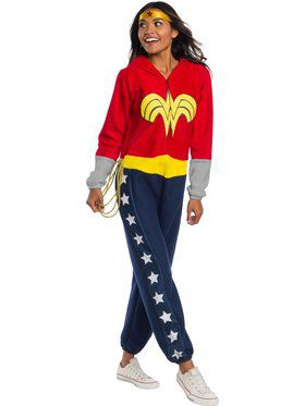 DC Superheroes Wonder Woman Onesie Costume for Adults