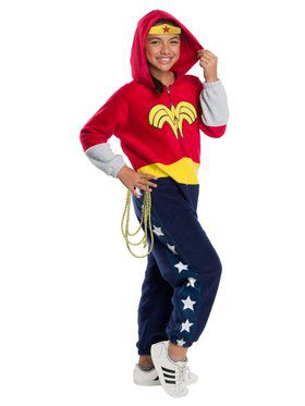 DC Superheroes Wonder Woman Jumpsuit Costume for Kids
