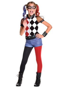 DC SuperHero Harley Quinn Deluxe Girls Costume
