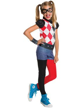 DC SuperHero Harley Quinn Girls Costume