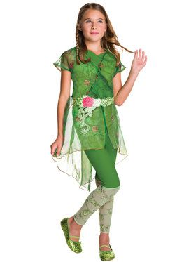 DC SuperHero Poison Ivy Deluxe Girl's Costume