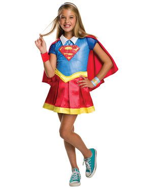 DC SuperHero Supergirl Deluxe Girls Costume