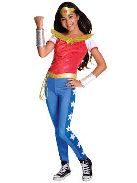 DC SuperHero Wonder Woman Deluxe Girls Costume