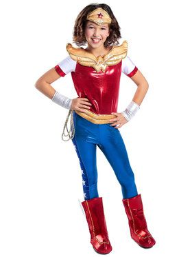 DC SuperHero Wonder Woman Deluxe Girl's Costume