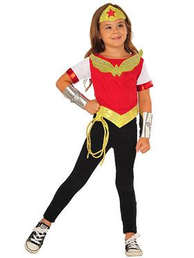 DC SuperHero Wonder Woman Dress Up Set Girls Costume