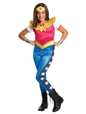 DC SuperHero Wonder Woman Girl's Costume