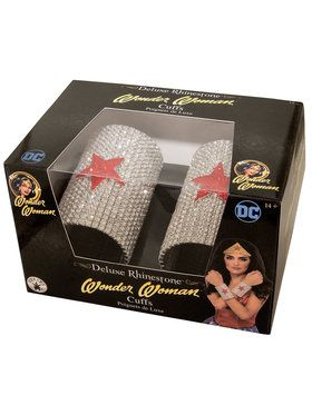 DC SUPERHERO - Wonder Woman Super Deluxe Rhinestone Cuffs in a Box