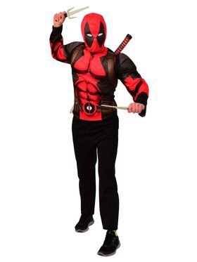 Deadpool Costume Top & Weapon Backpack Kit