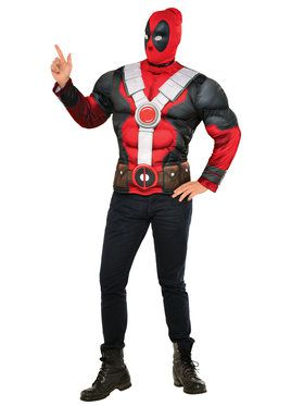Deadpool Muscle Chest Top for Men Mens Costume