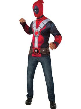 Deadpool Costume Adult Top XL