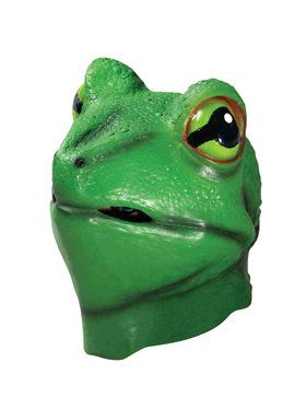 Deluxe Frog Mask For Adults