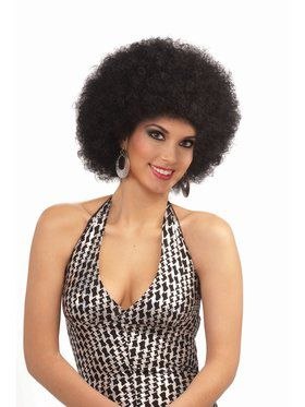 Deluxe Afro Wig Black Accessory