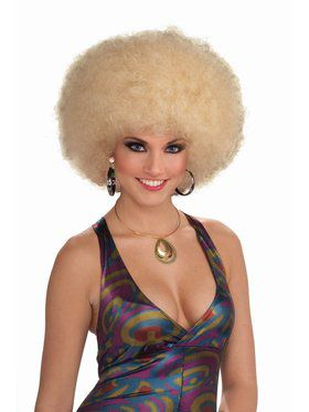 Deluxe Afro Wig Mixed Blonde Accessory