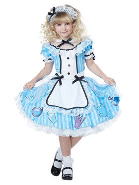 Deluxe Alice In Wonderland Girl's Costume