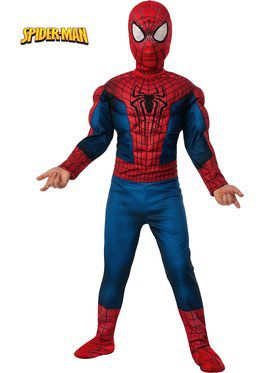Deluxe Amazing Spider-Man 2 Muscle Chest Boy's Costume