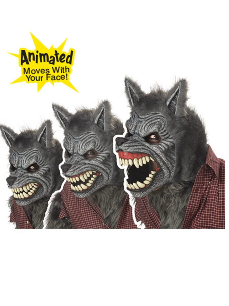 Deluxe Ani-motion Werewolf Mask  sc 1 st  Wholesale Halloween Costumes : deluxe werewolf costume  - Germanpascual.Com