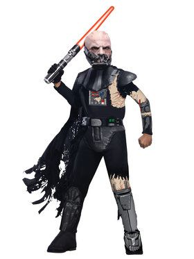 Deluxe Battle Damaged Darth Vader Star Wars Boy's Costume