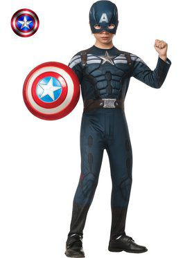 Deluxe Captain America 2 Winter Soldier Stealth Muscle Boy's Costume