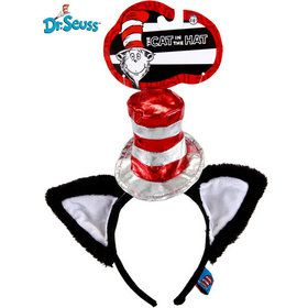Deluxe Cat in The Hat Head Band w/ Cat Ears