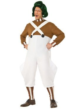 Deluxe Charlie and the Chocolate Factory Oompa Loompa Men's Costume