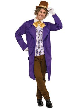 Deluxe Charlie and the Chocolate Factory Willy Wonka Mens Costume