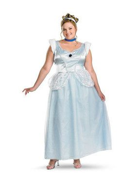 Deluxe Cinderella Adult Plus Costume