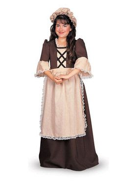 Deluxe Colonial Girl Costume for Children